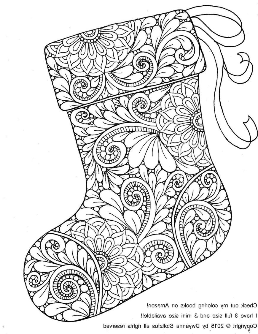 Stocking Coloring Page Christmas Stocking Coloring Page Mim5 Christmas Stocking Coloring