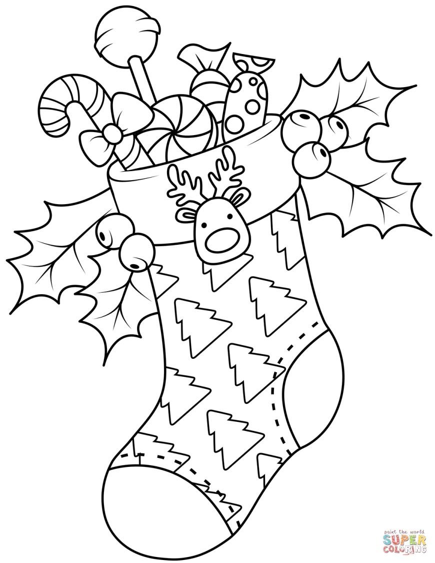 Stocking Coloring Page Christmas Stockings Coloring Pages Free Coloring Pages