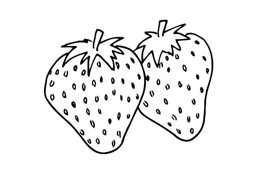 Strawberry Coloring Page Coloring Page Strawberry Img 12302