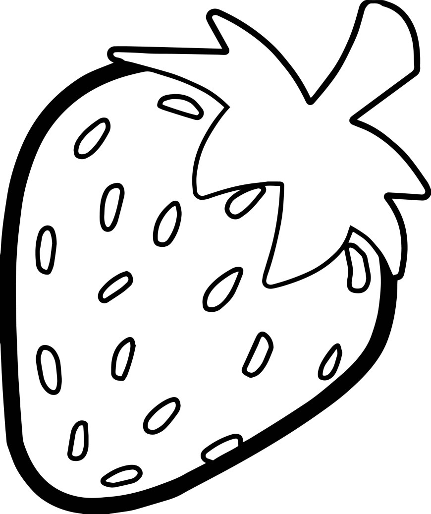 Strawberry Coloring Page Strawberry Bold Outline Coloring Page Wecoloringpage