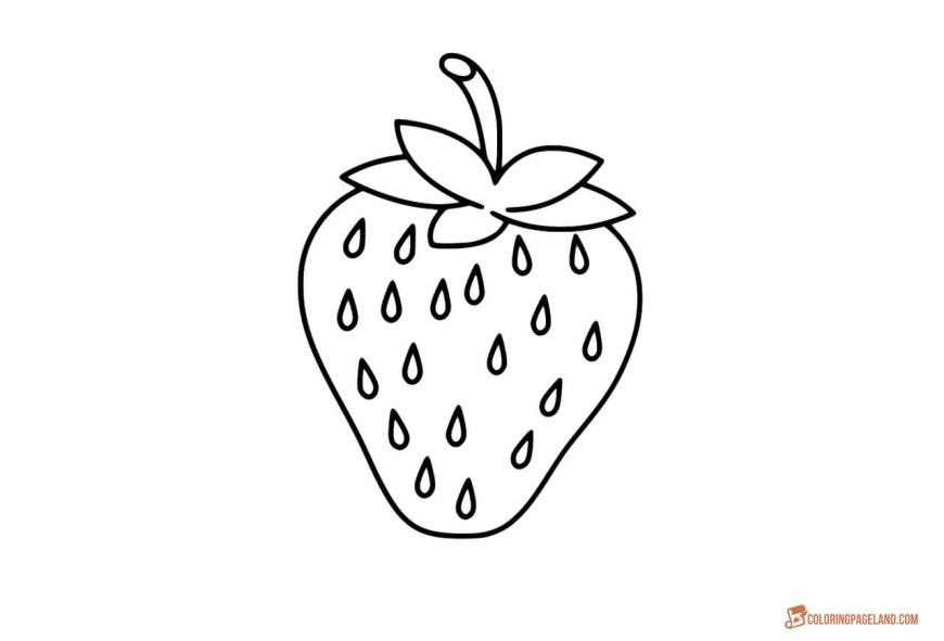 Strawberry Coloring Page Strawberry Coloring Page Coloring Pages