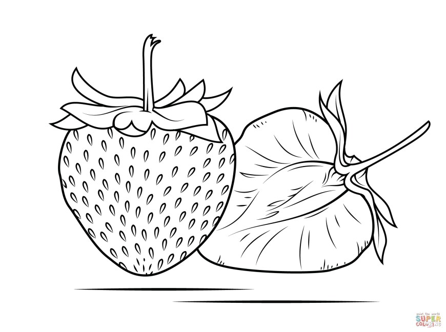 Strawberry Coloring Page Strawberry Coloring Pages Free Coloring Pages