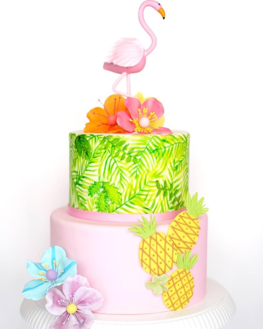 Summer Birthday Cakes Pin Edonnabelle On Amazing Cakes Pinterest Flamingo Cake