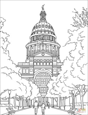 Texas Coloring Pages Texas State Capital Coloring Page Free Printable Coloring Pages