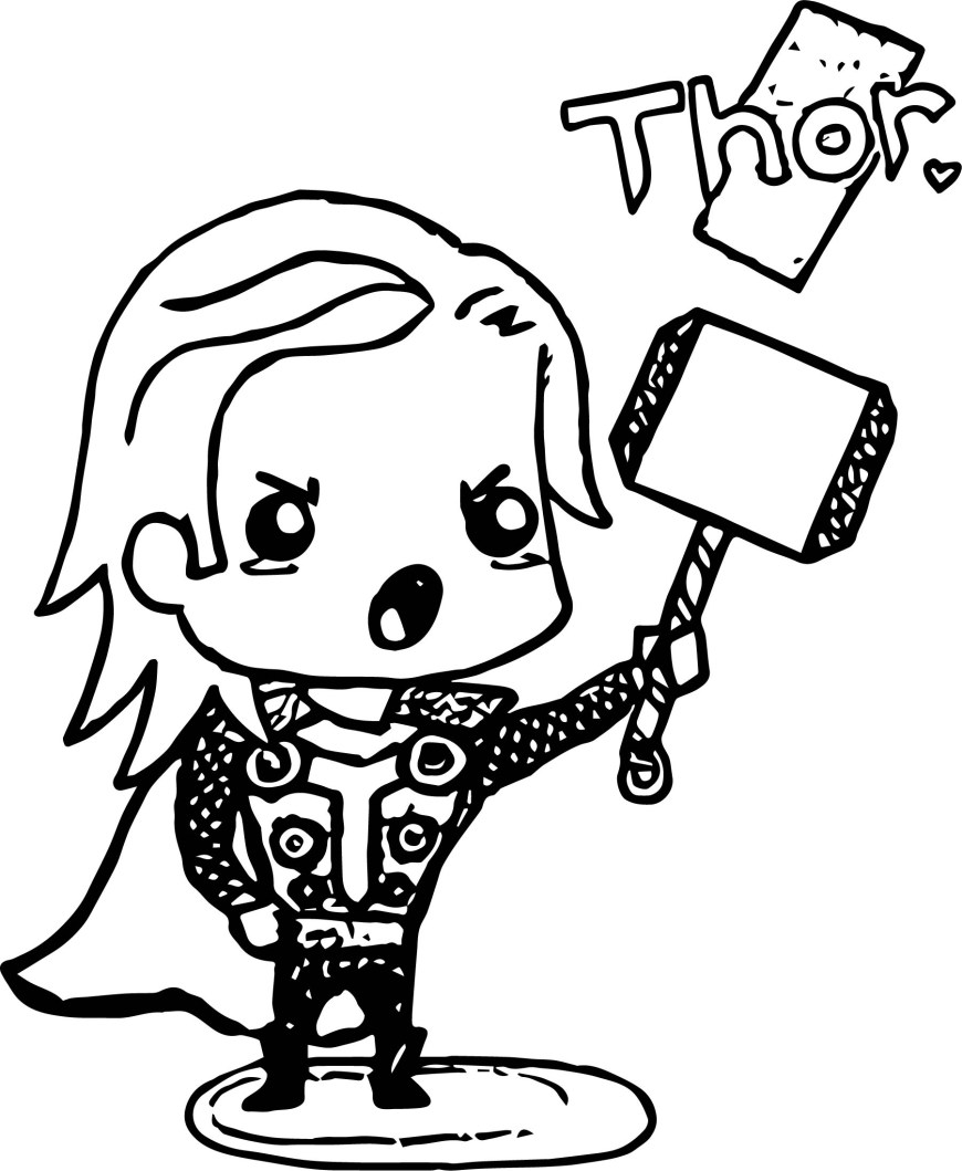 Thor Coloring Pages Avenger Babies Thor Coloring Page Coloring Page Wecoloringpage