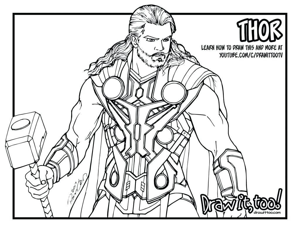Thor Coloring Pages Thor Coloring Pages 5610 Avengers Chronicles
