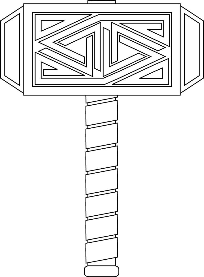 Thor Coloring Pages Thor Coloring Pages Hammer Coloringstar
