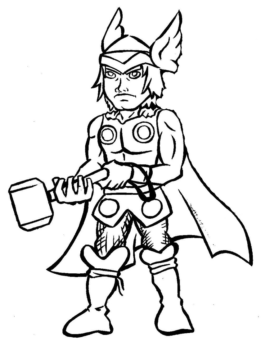 Thor Coloring Pages Thor Coloring Pages Thor 21 Superheroes Printable Coloring Pages