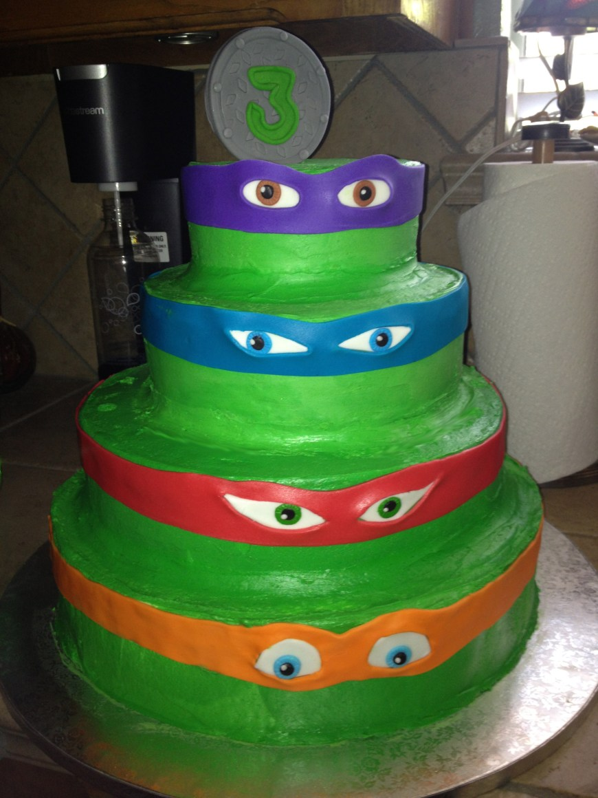 Tmnt Birthday Cake 12 Tmnt Bday Cakes Photo Ninja Turtle Birthday Cake Ninja Turtle
