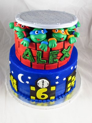 Tmnt Birthday Cake Teenage Mutant Ninja Turtles Birthday Cake Cakecentral