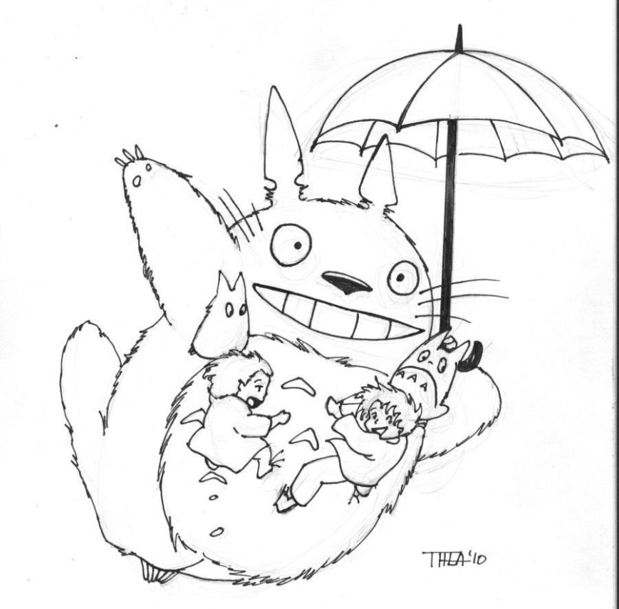 Totoro Coloring Pages Totoro Coloring Page Best Math Facts Coloring Pages Elegant Totoro