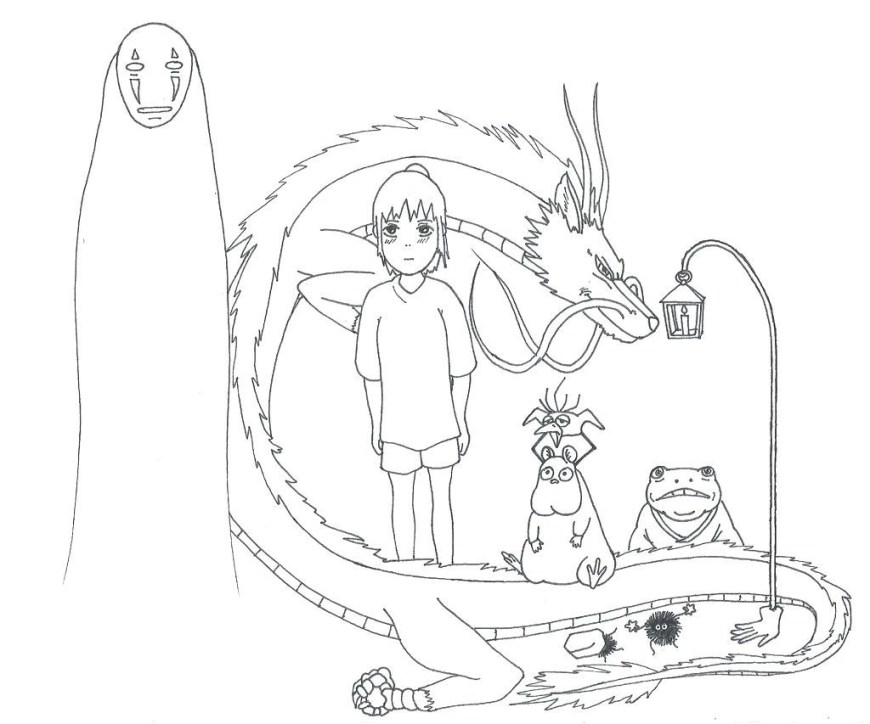 Totoro Coloring Pages Totoro Coloring Pages At Getdrawings Free For Personal Use