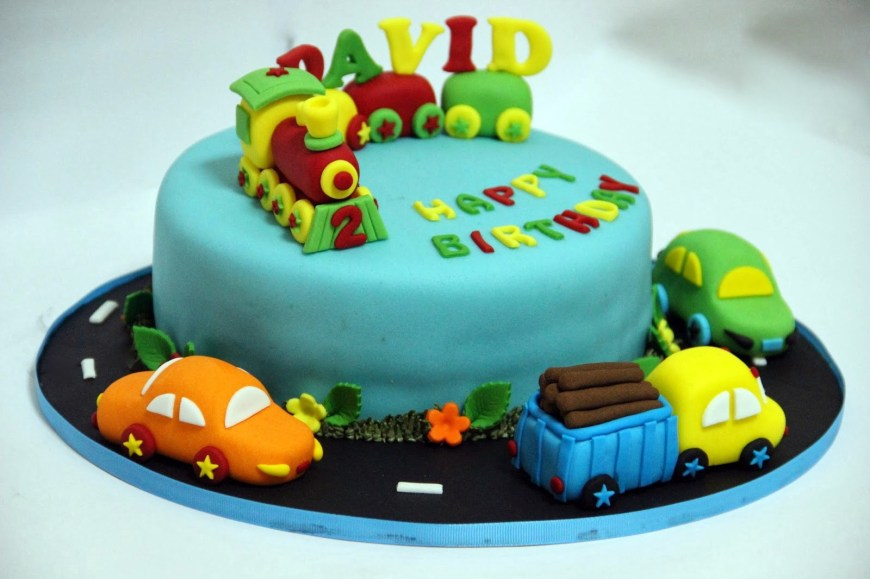 Train Birthday Cake Buy Train Fondant Birthday Cake For Kids Online At Best Prices