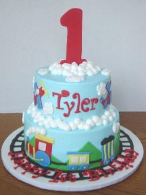 Train Cakes For Birthdays 1st Birthday Train Cake Cakecentral