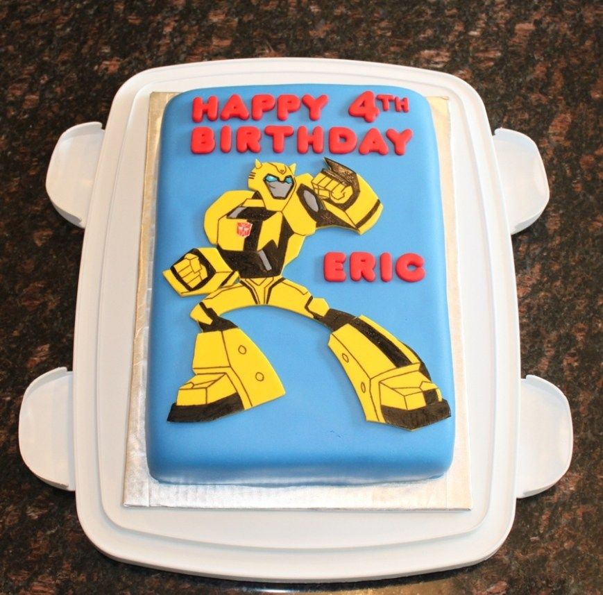 Transformers Birthday Cake Transformers Bumblebee Birthday Cake Cakecentral