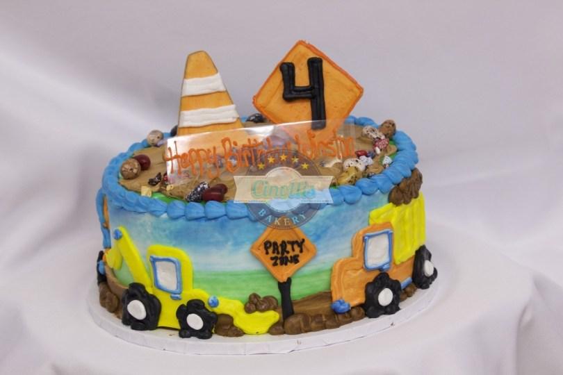 Truck Birthday Cake Construction Birthday Celebration Cake From Cinottis Bakery