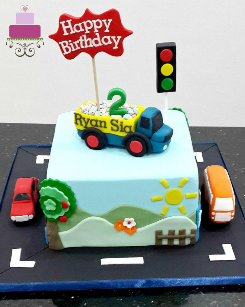 Truck Birthday Cake Dump Truck Birthday Cake