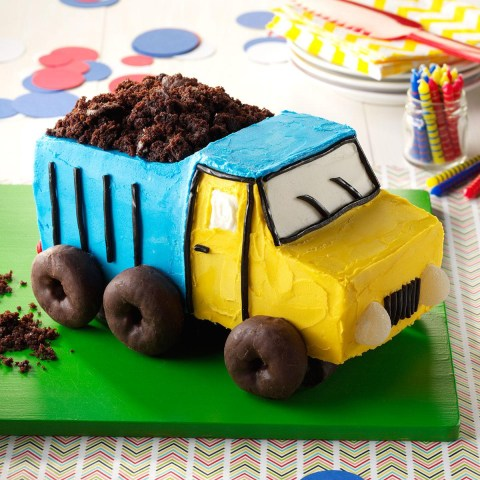 Truck Birthday Cake Dump Truck Cake Recipe Taste Of Home