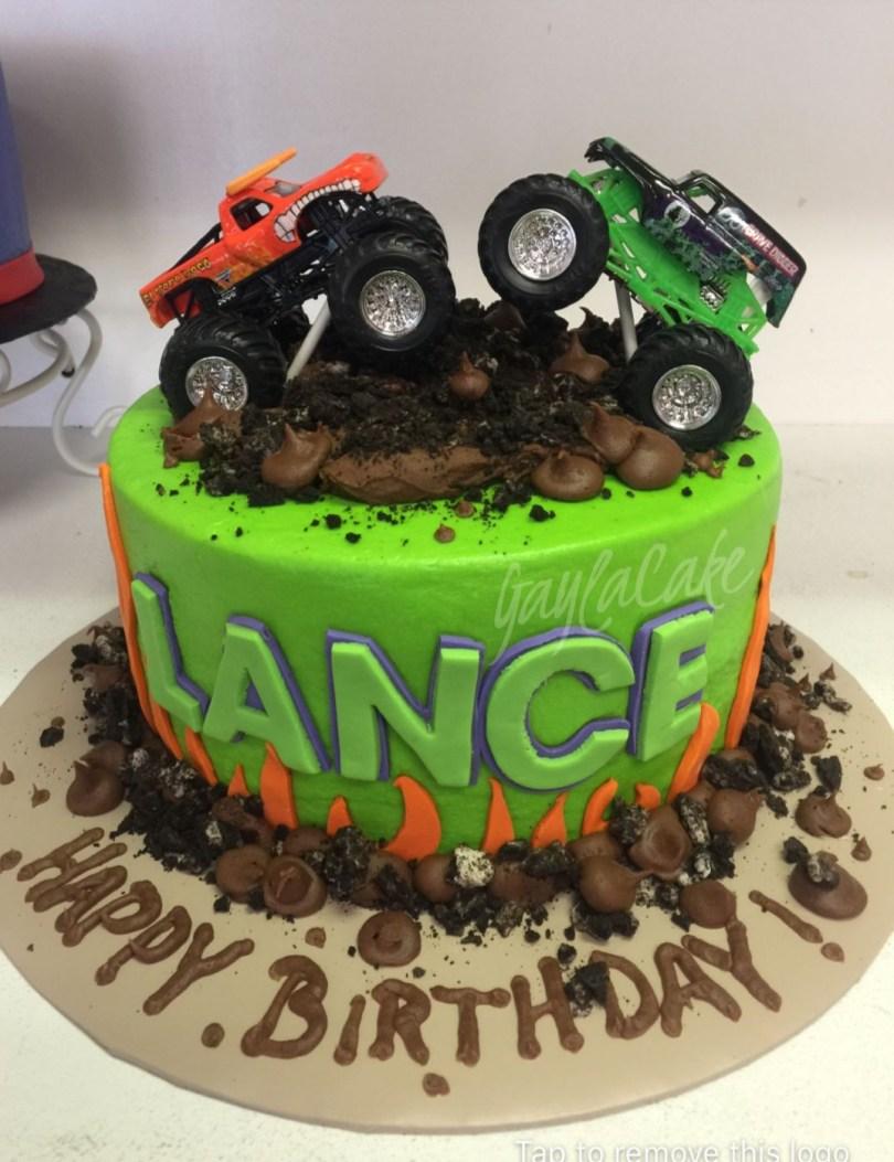 Truck Birthday Cake Monster Truck Birthday Cake Custom Cakes Pinterest Monster