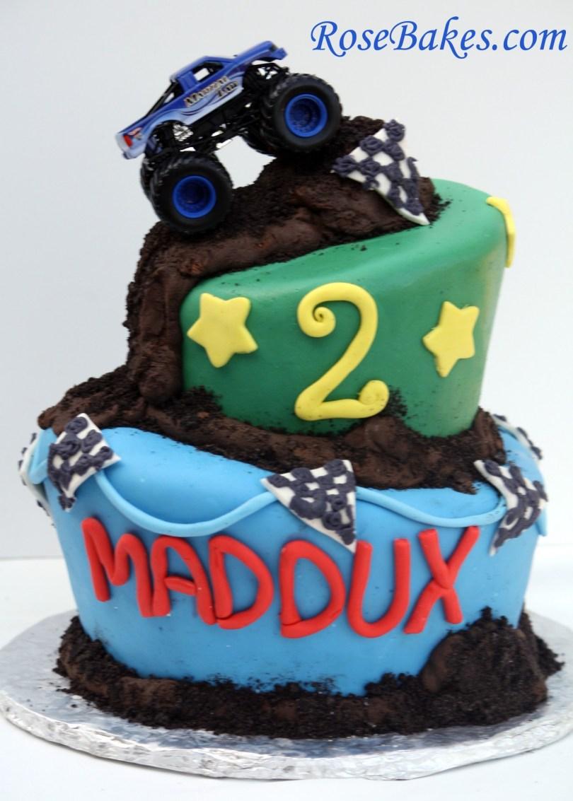 Truck Birthday Cake Monster Truck Cake My First Wonky Cake