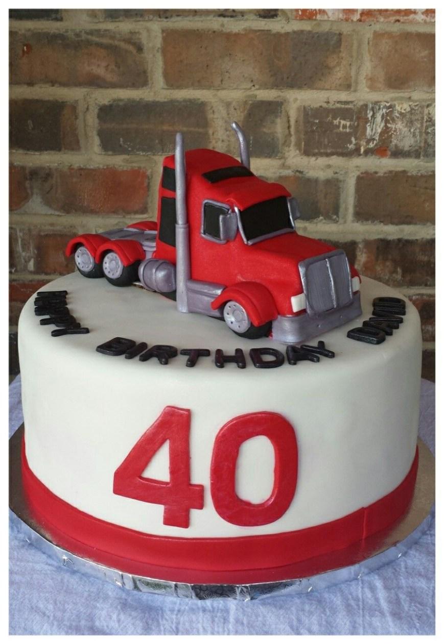 Truck Birthday Cake Semi Truck Birthday Cake Max Amor Cakes Fantasy Closet
