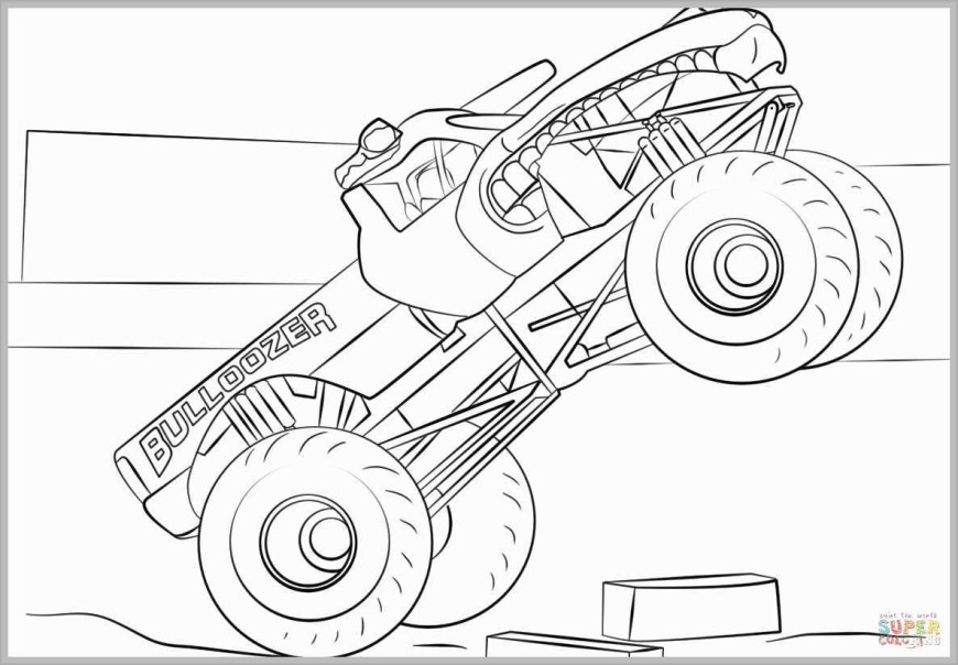 Trucks Coloring Pages Malvorlage Monster Truck Eben Monster Truck Coloring Pages Pleasant