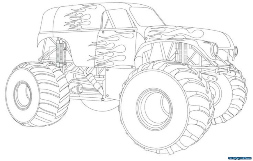 Trucks Coloring Pages Monster Truck Color Pages 44142 Longlifefamilystudy