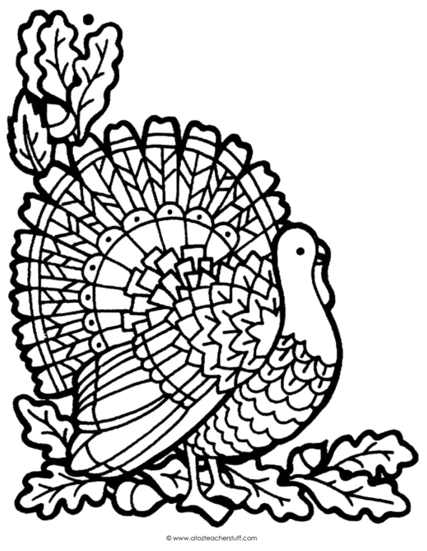 Turkey Coloring Pages Turkey Coloring Page A To Z Teacher Stuff Printable Pages And