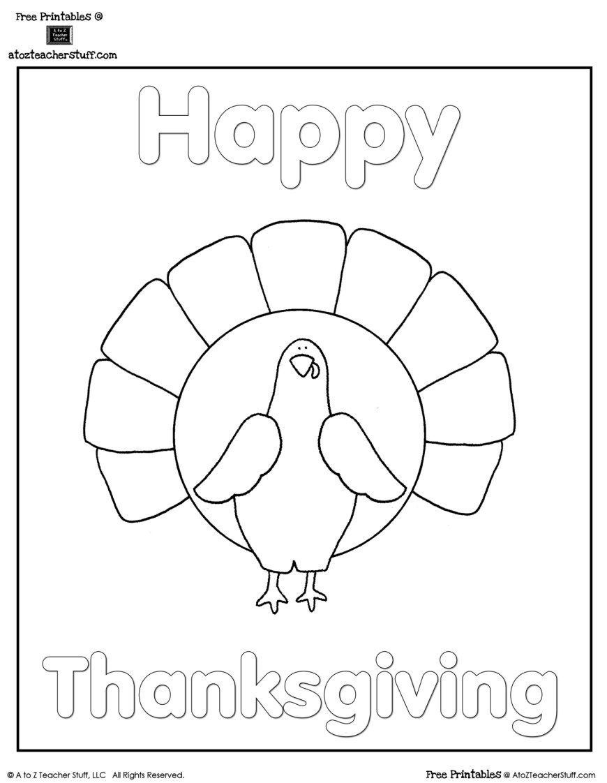 Turkey Coloring Pages Turkey Coloring Sheet A To Z Teacher Stuff Printable Pages And