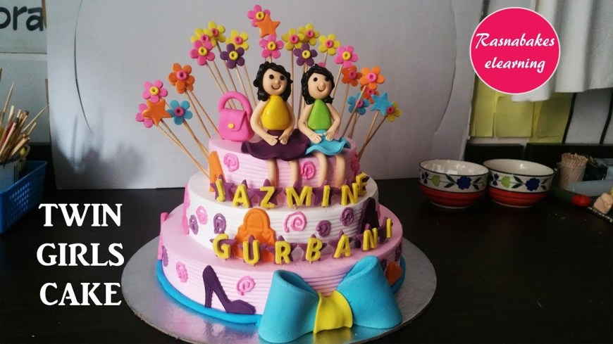 Twins Birthday Cake Happy Birthday Twins Ba Birthday Cake Design For Girlshomemade