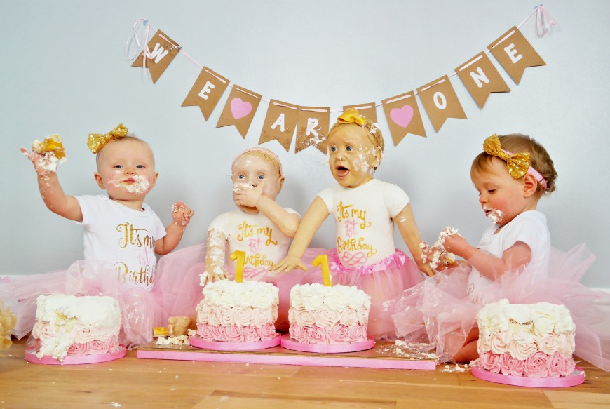 Twins Birthday Cake Twin Girls Look Exactly Like Their Life Size Birthday Cakes