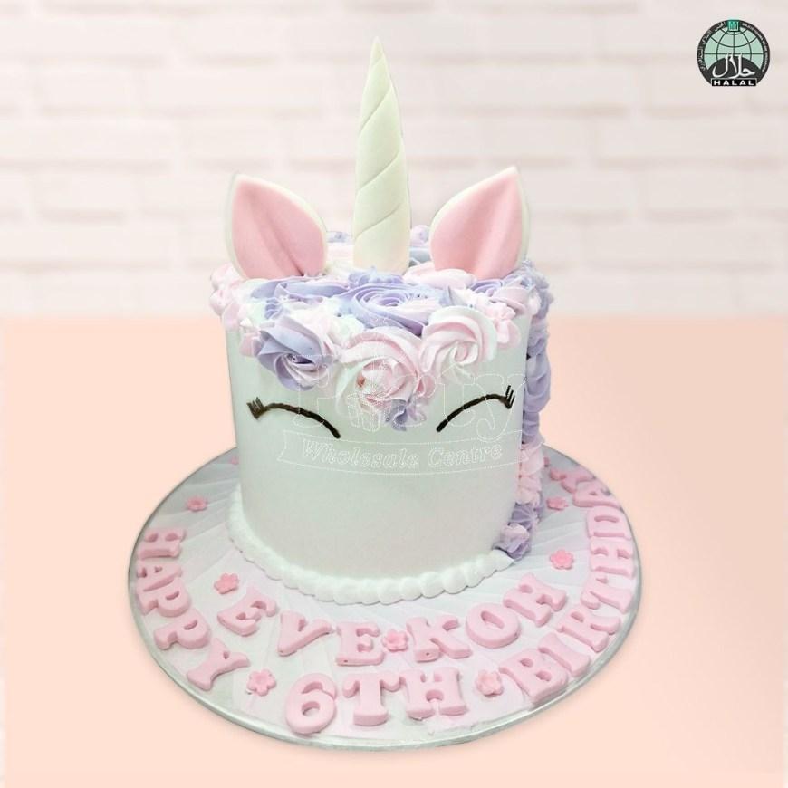 Unicorn Birthday Cake Customised Magical Unicorn Lilac Pink Birthday Cake Party