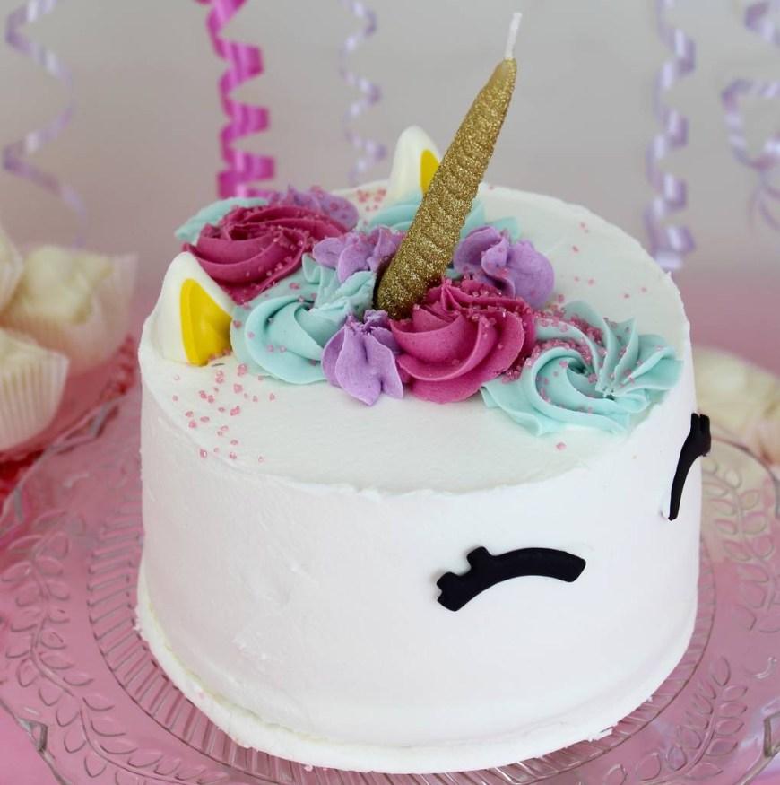 Unicorn Birthday Cake Glitter Unicorn Birthday Cake Candle Clever Little Cake Kits