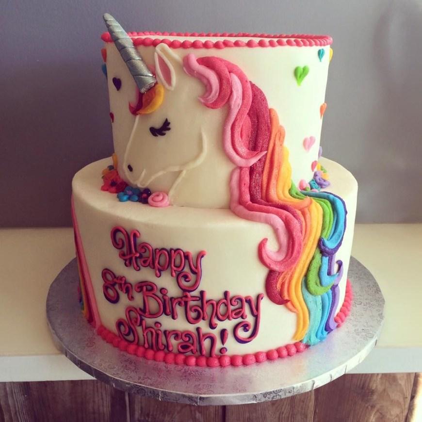 Unicorn Birthday Cake Hayleycakes And Cookies Unicorn Cake Cakes And Dessert