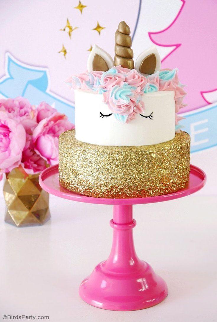 Unicorn Birthday Cake How To Make A Unicorn Birthday Cake Birthdays Pinterest