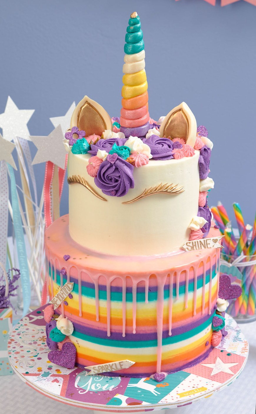 Unicorn Birthday Cake This Unicorn Party Takes The Cake Make It From Your Heart