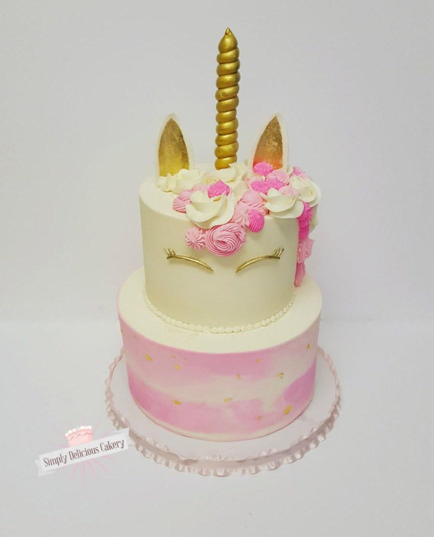Unicorn Birthday Cake Unicorn 1st Birthday Cake Cakecentral