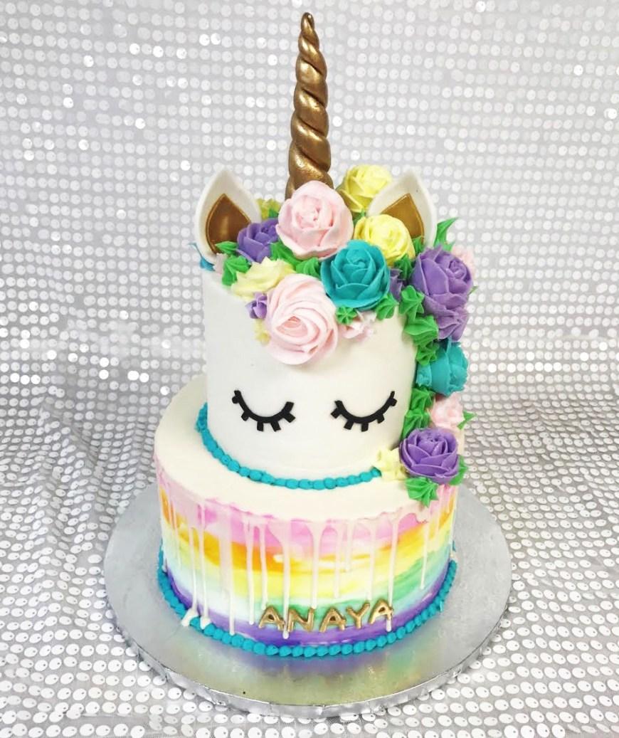 Unicorn Birthday Cake Unicorn First Birthday Cake Palermos Custom Cakes Bakery
