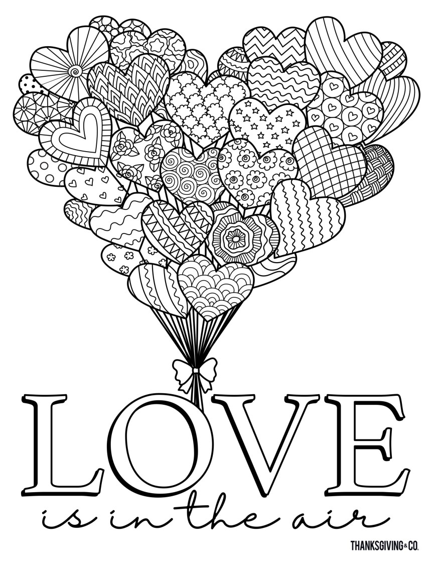 Valentine Day Coloring Pages 4 Free And Printable Valentines Day Coloring Pages For Adults That