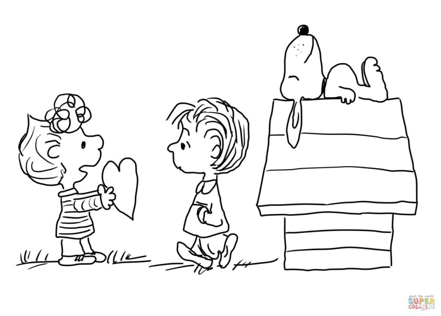 Valentine Day Coloring Pages Valentines Day Color Pages Charlie Brown Valentine S Coloring Page