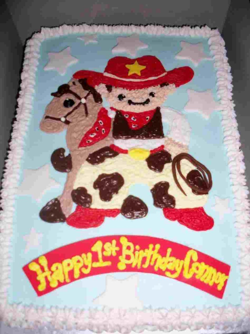 Western Birthday Cakes Ideas Children Farm Theme First My S Pinterest Rhpinterestcom
