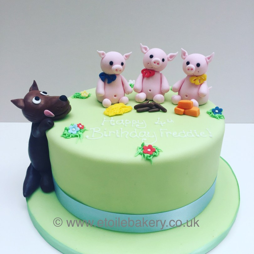 Wolf Birthday Cake 3 Little Pigs And The Big Bad Wolf Etoile Bakery