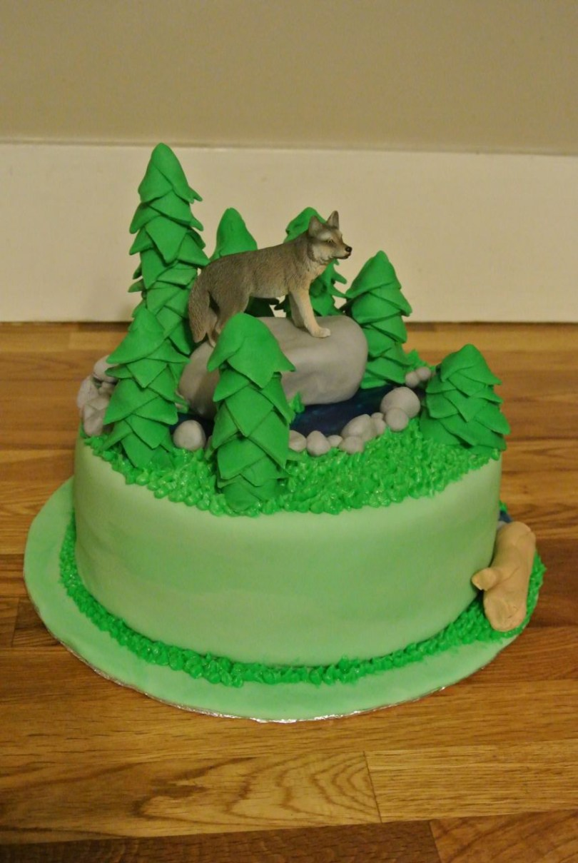 Wolf Birthday Cake Fifth Street Cakes Forest With Wolf Cake