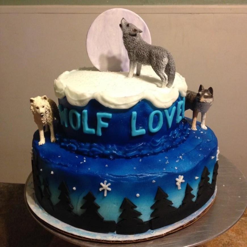 Wolf Birthday Cake Wolf Birthday Cake Doces E Salgados Pinterest Birthday Cakes
