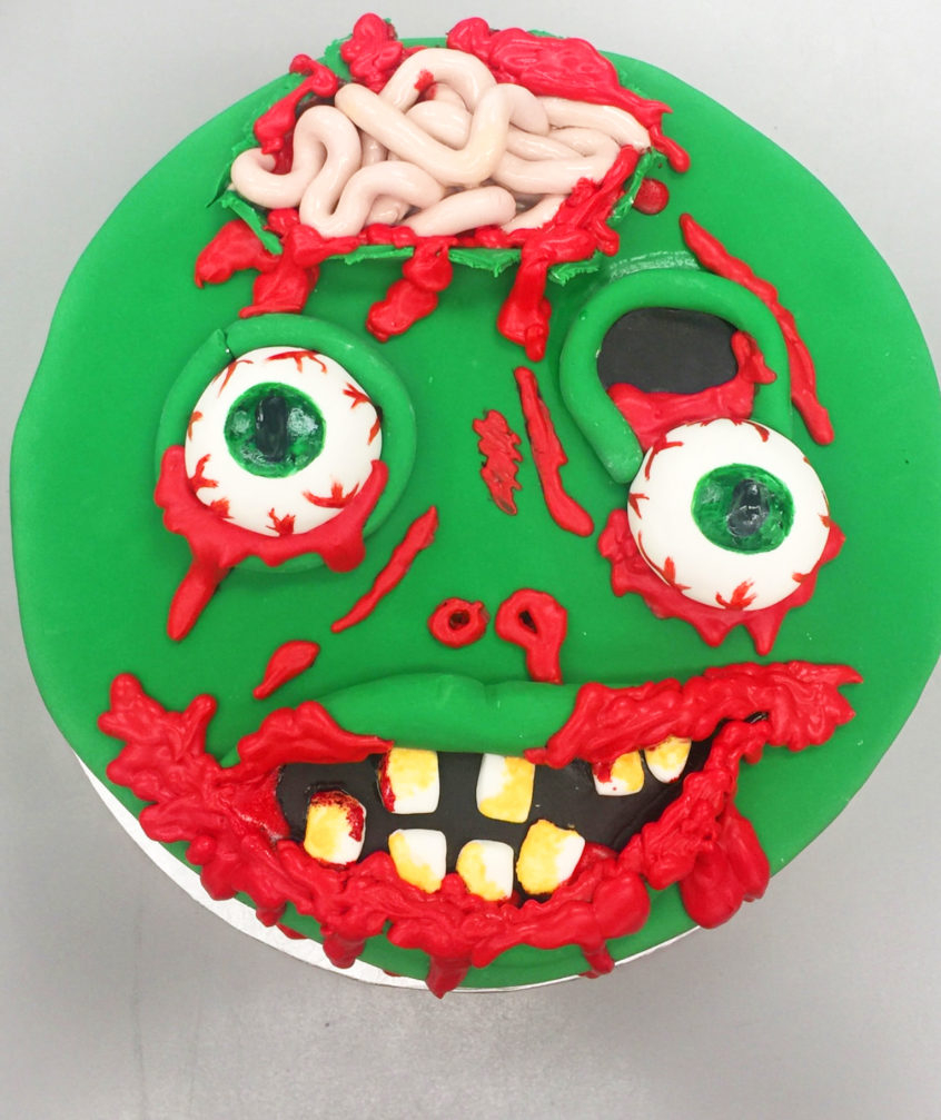 Zombie Birthday Cake Creepy Zombie Birthday Cake Goodies Bakeshop