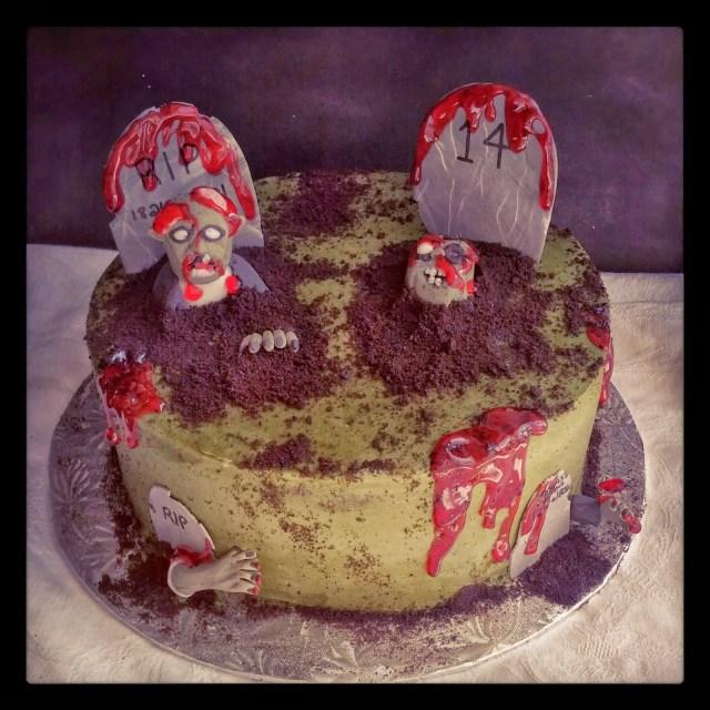 Zombie Birthday Cake Second Generation Design Graveyard