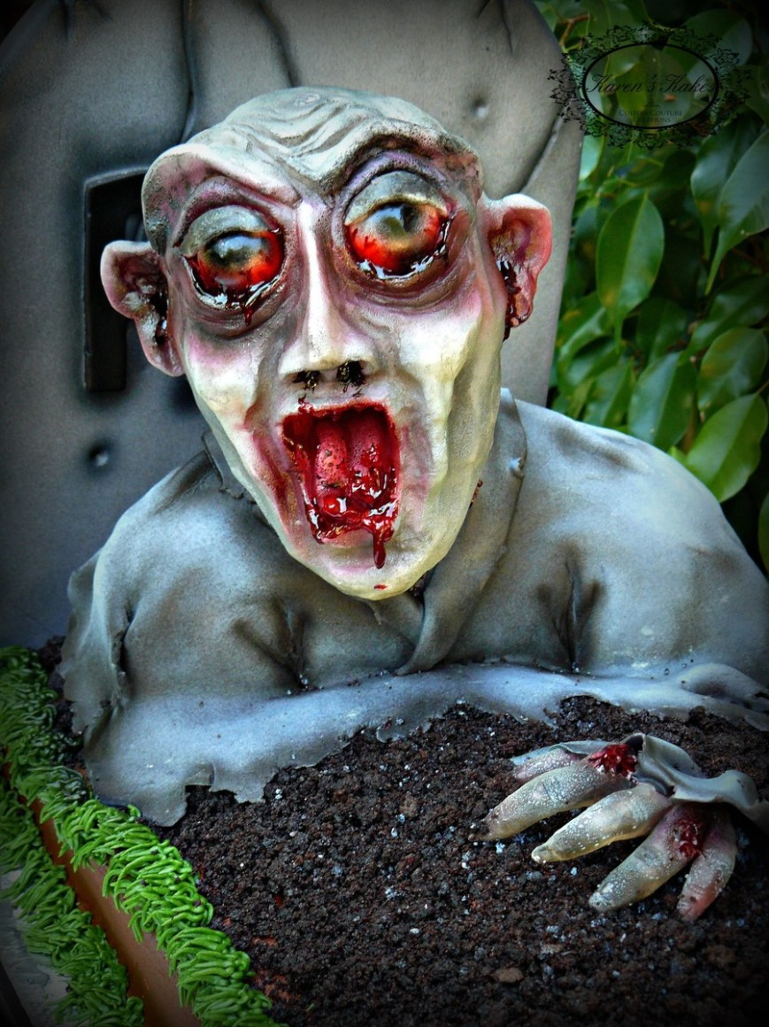 Zombie Birthday Cake Zombie Birthday Cake The Zombie Is All Edible Cakecentral