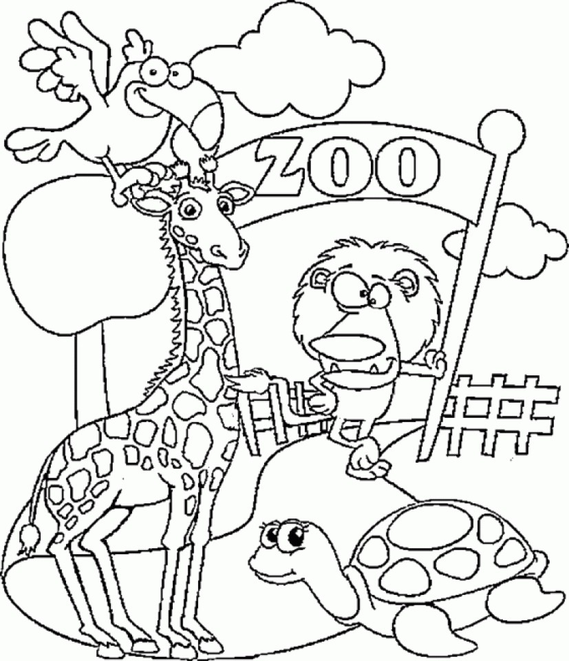 Zoo Coloring Pages Awesome Of Zoo Coloring Pages Image Printable Coloring Pages