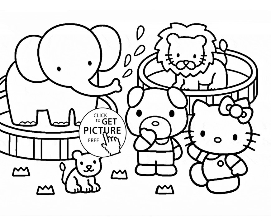 Zoo Coloring Pages Coloring Pages For Zoo Animals For Preschool Fresh Coloring Pages