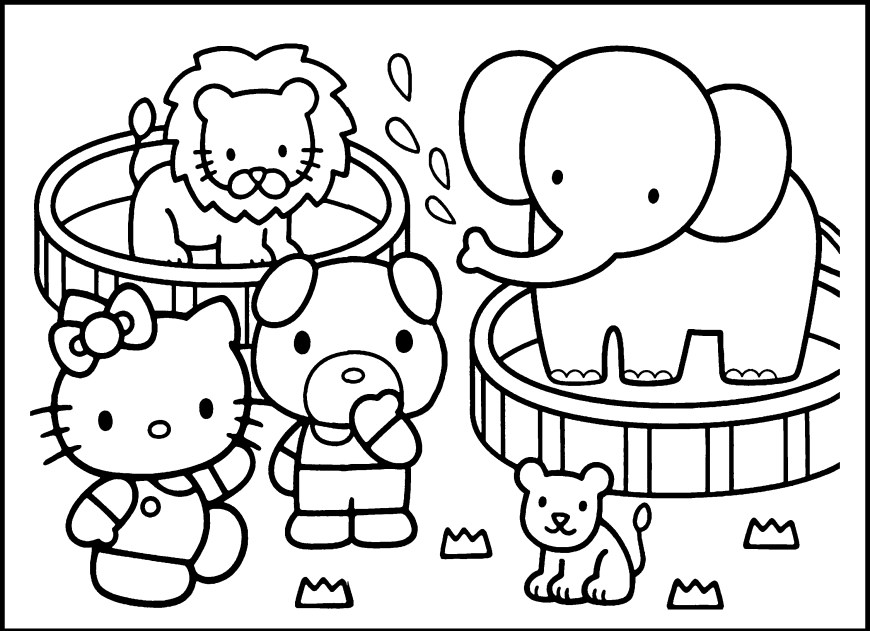 Zoo Coloring Pages Zoo Coloring Pages For Preschoolers At Getcolorings Free